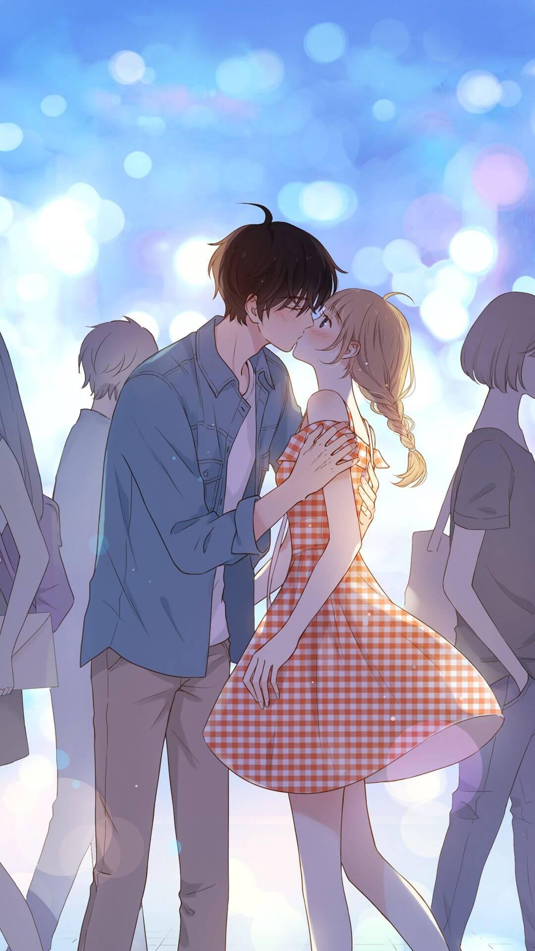 Ảnh anime cặp đôi hôn nhau đẹp