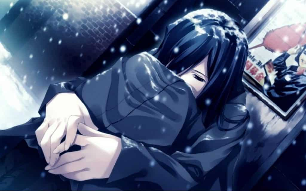 Ảnh bìa facebook anime buồn