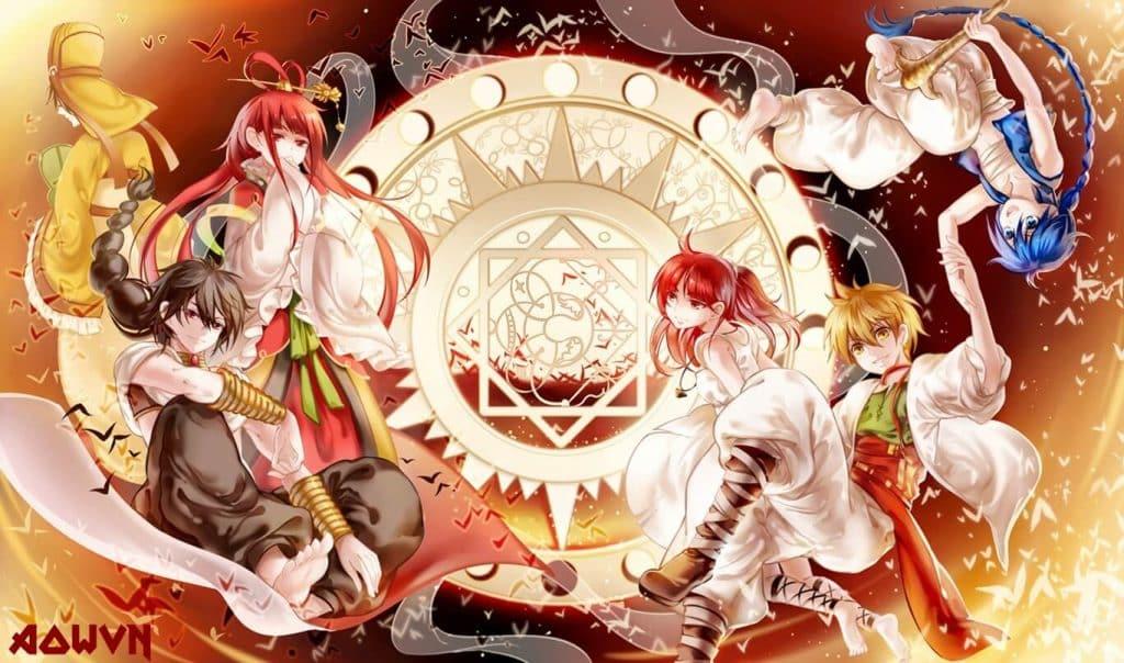 Anime cổ trang Magi: Mê cung ma thuật