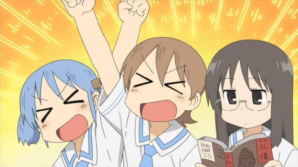 Anime cười học sinh