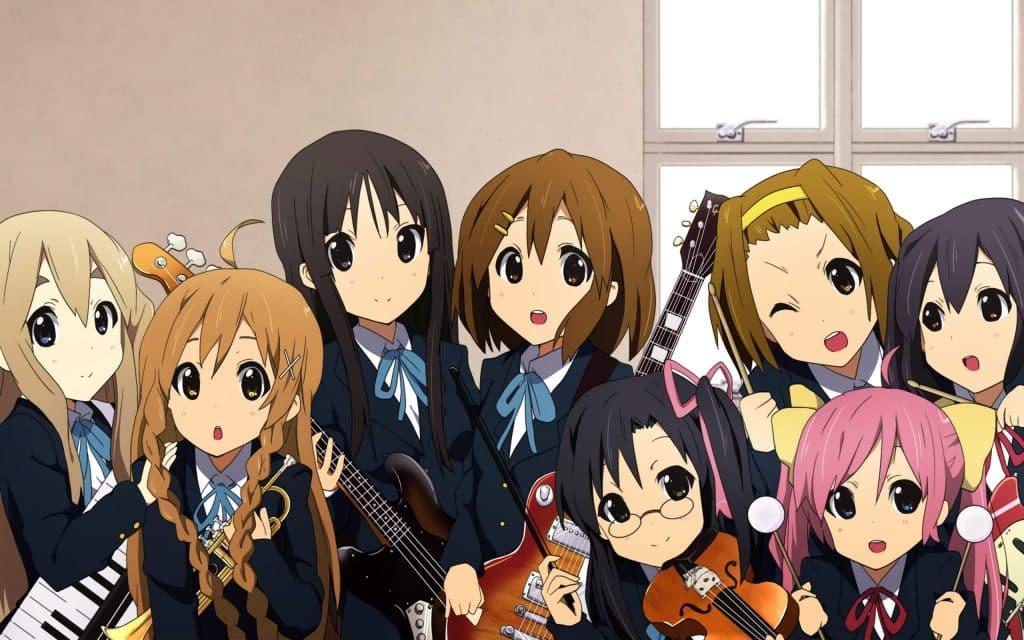 Anime học đường âm nhạc K-On!