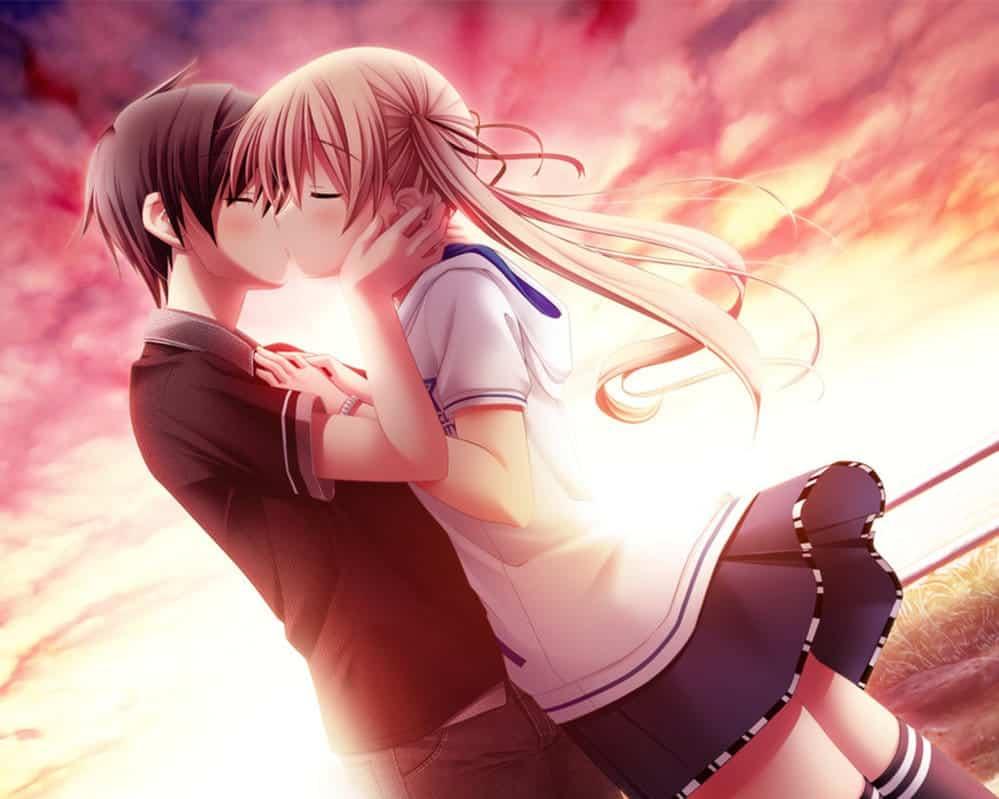 Hình nền Anime hôn nhau