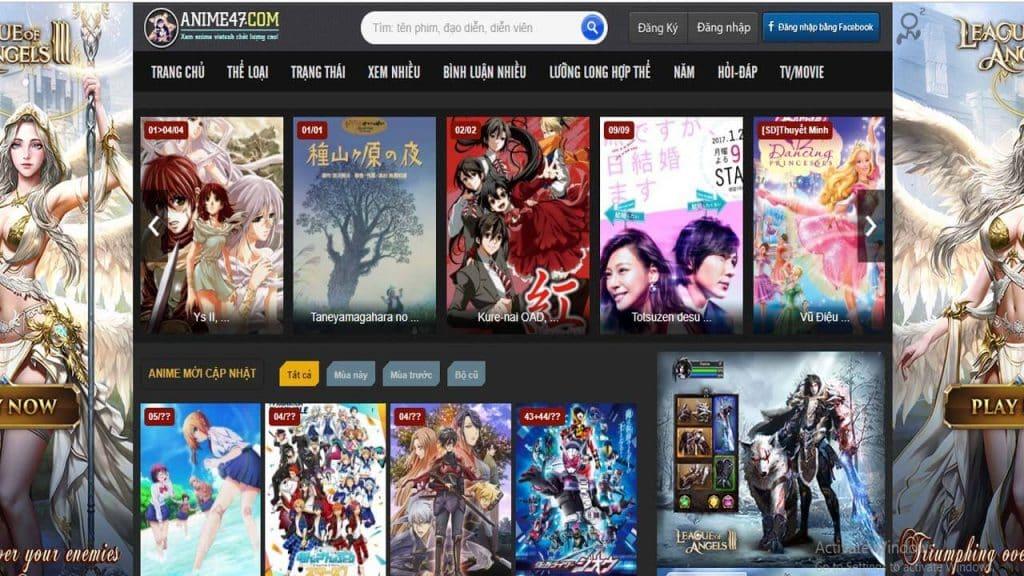 Trang web Anime47.com