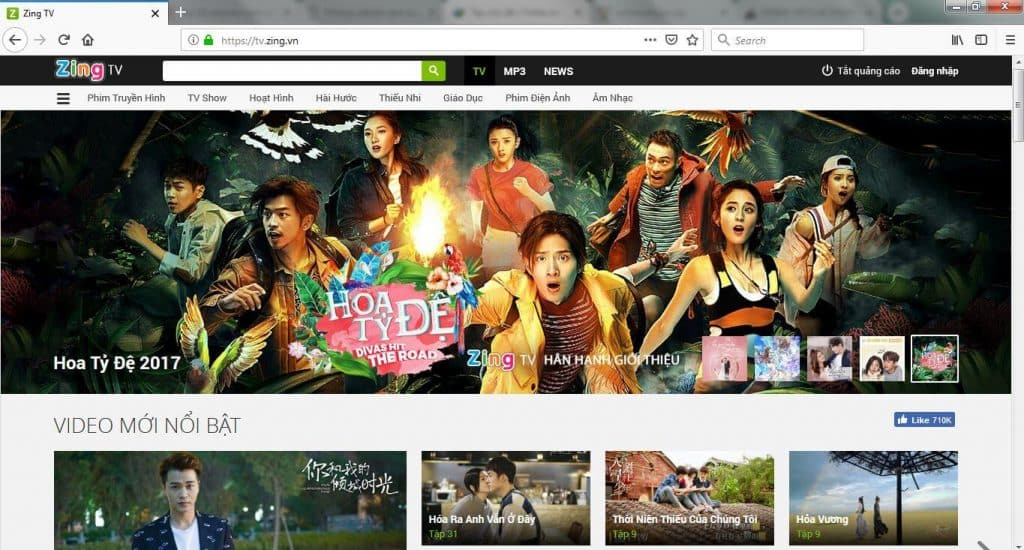 Trang web xem anime Tv.zing.vn