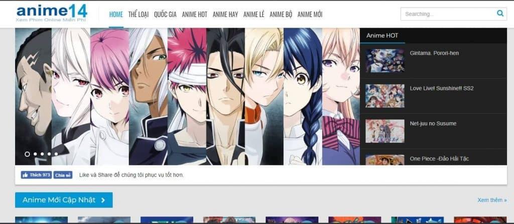 Trang web Anime14.net
