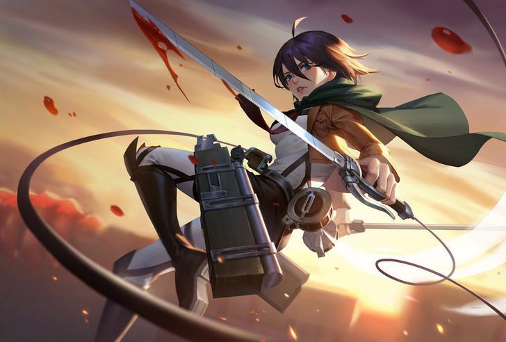 Nhân vật Mikasa Ackerman trong bộ Anime Attack on Titan