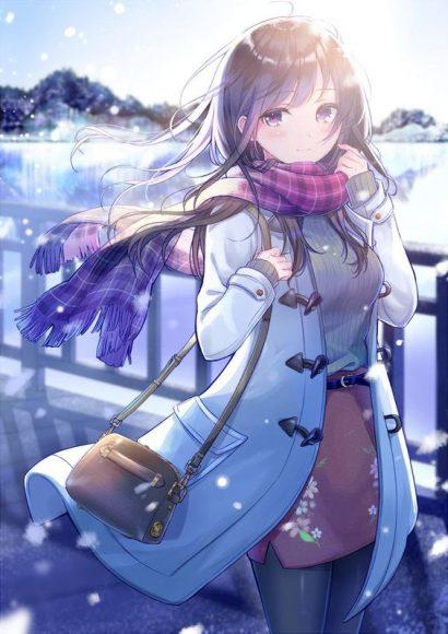 Ảnh 2: Những bông tuyết trắng xóa bay bay trong không khí tạo nên khung cảnh thơ mộng, lãng mạn