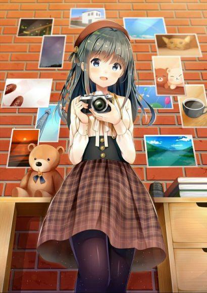 Ảnh 3: Ảnh Anime girl dễ thương với cô bé có nét tinh nghịch, đầy cá tính