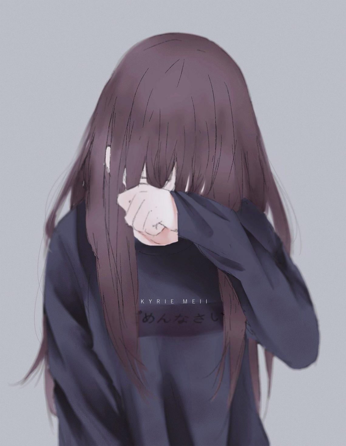 Ảnh 12: Tiếng khóc nghẹn ngào được che đi bởi cái cúi đầu buồn bã của nữ chính trong bức ảnh