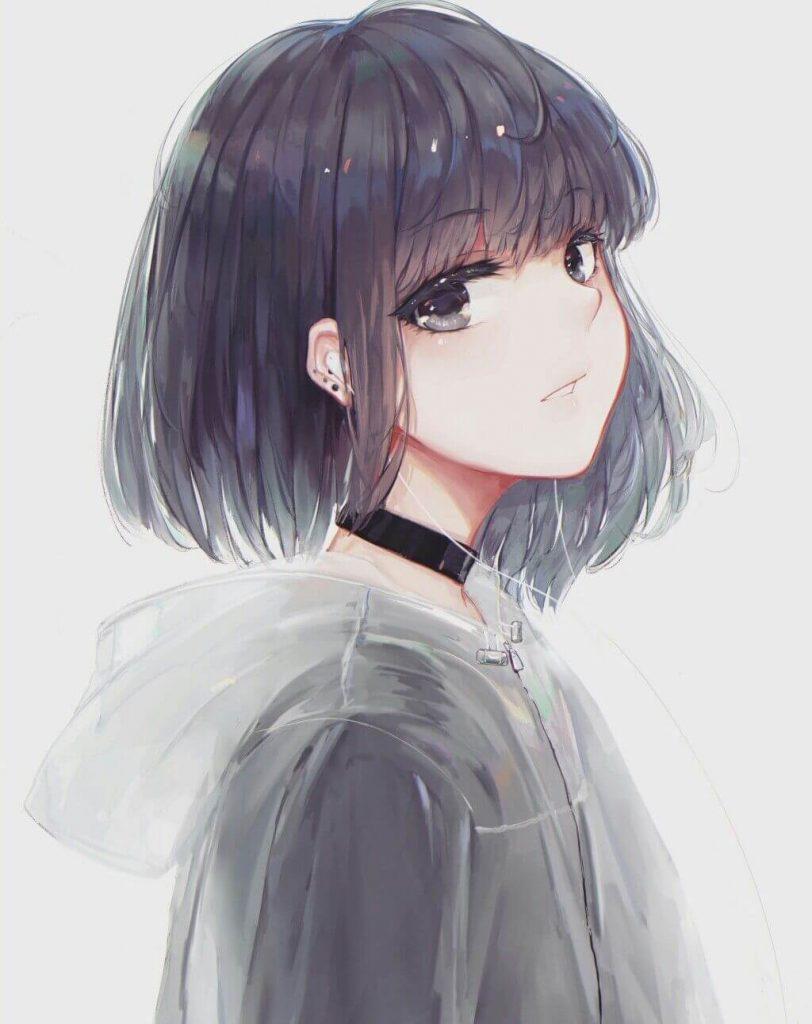 Ảnh Anime girl tóc ngắn
