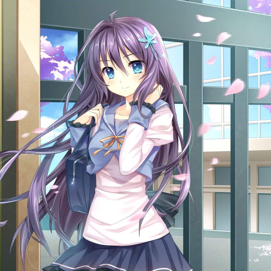 Ảnh Anime girl tóc tím