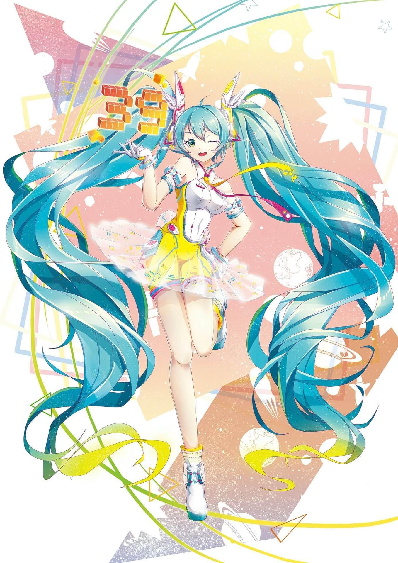 Ảnh Anime nữ tóc xanh dương dài