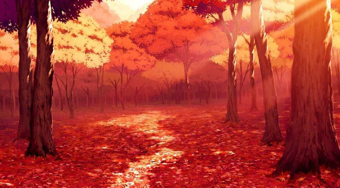 Rừng cây lá đỏ là khung cảnh lung linh huyền ảo luôn để lại ấn tượng sâu sắc cho các tín đồ yêu thích Anime