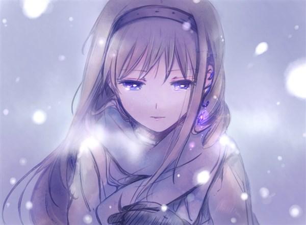 Ảnh 16: Những bông tuyết rơi mang theo tâm trạng, nỗi buồn chất chứa trong lòng cô gái qua giọt nước mắt