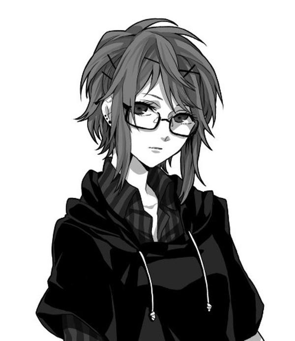 Ảnh 7: Ảnh Anime girl buồn trắng đen thể hiện xuất sắc nội tâm của nhân vật chính