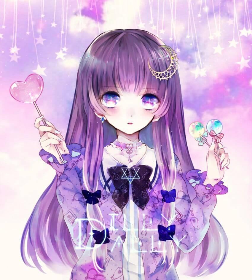 Anime công chúa tóc tím