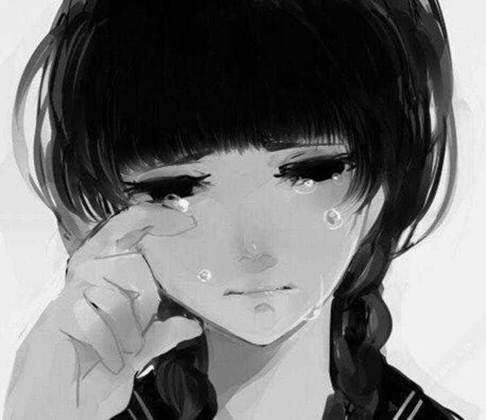 Ảnh 2: Những giọt nước mắt nhẹ rơi tựa như nỗi buồn đang nhẹ nhàng được buông bỏ