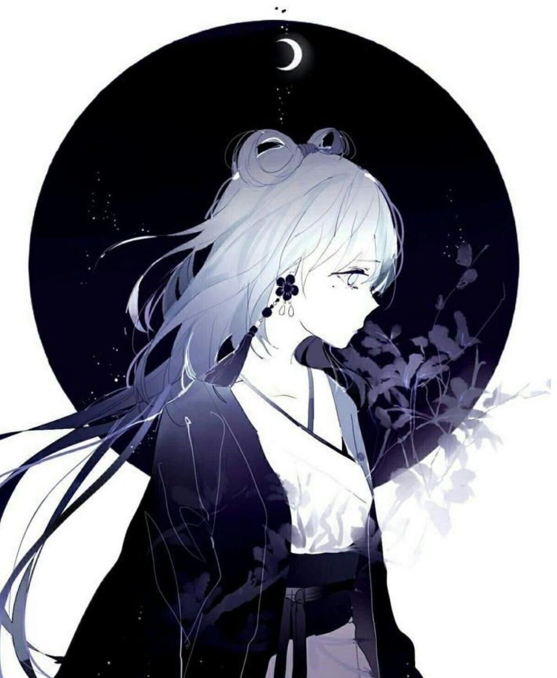 Anime girl tóc bạch kim