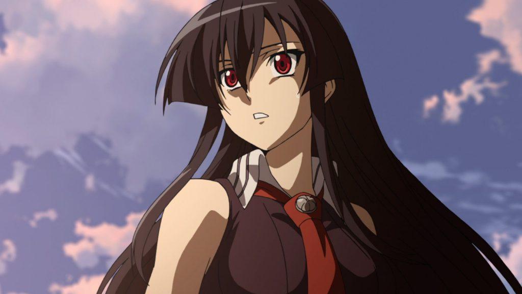 Anime girl tóc đen dài