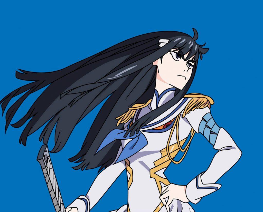 Anime girl tóc đen dài Satsuki Kiryuuin