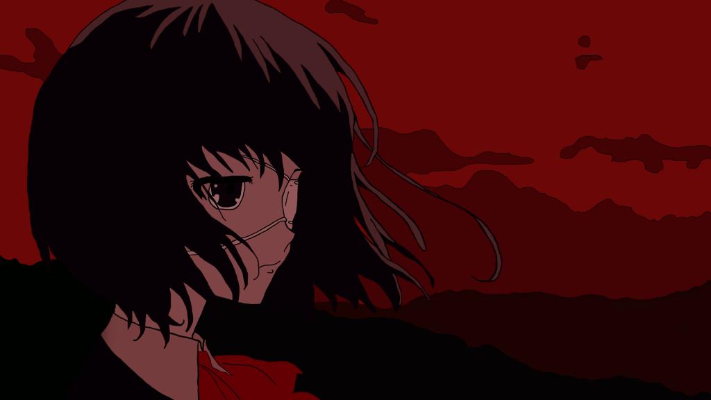 Anime nữ tóc đen ngắn Mei Misaki