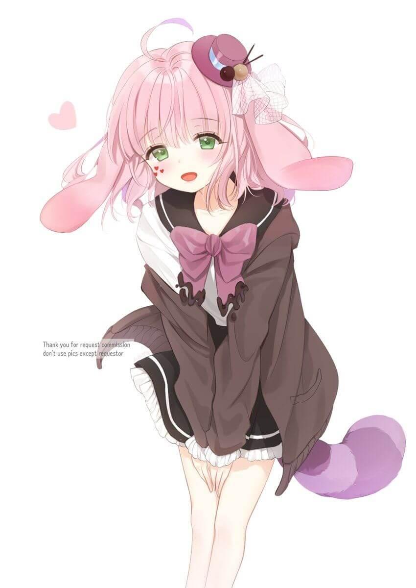 Anime nữ tóc hồng trung học