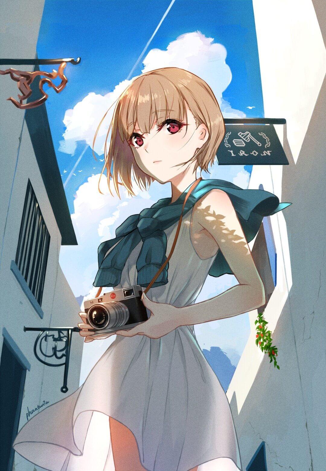 Anime nữ tóc ngắn
