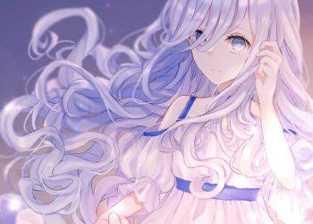 Nhân vật nữ Anime tóc trắng đẹp