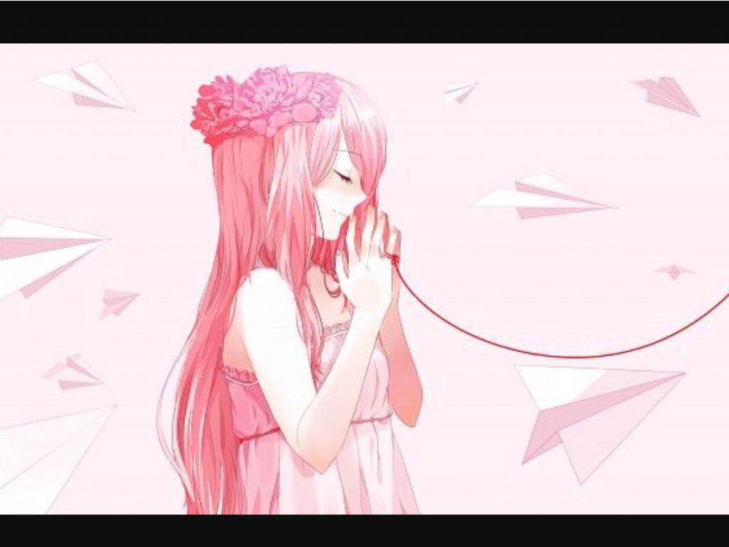 Hình Anime nữ tóc hồng